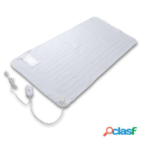 Vidaxl manta eléctrica aquecida em poliéster suave lavável 150 x 70 cm