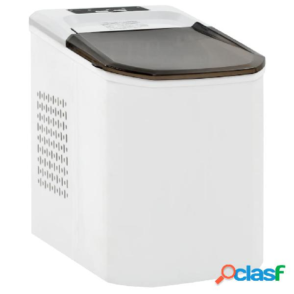 Vidaxl máquina de fazer cubos de gelo 1,4 l 15 kg/24 h branco