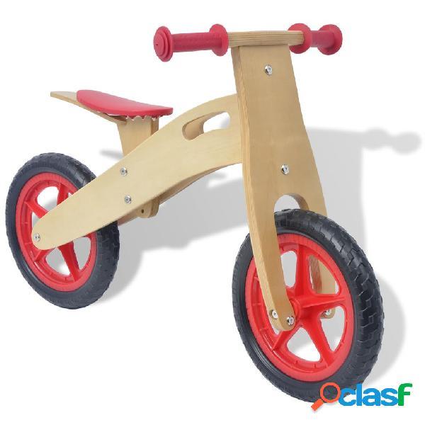 vidaXL Bicicleta de equilíbrio em madeira vermelho
