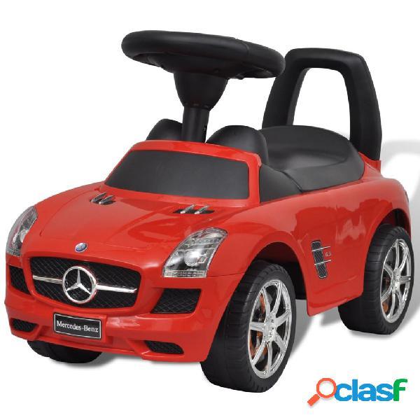Vidaxl carro de empurrar para crianças, vermelho mercedes benz