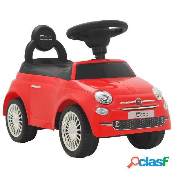 Vidaxl carro de passeio fiat 500 vermelho