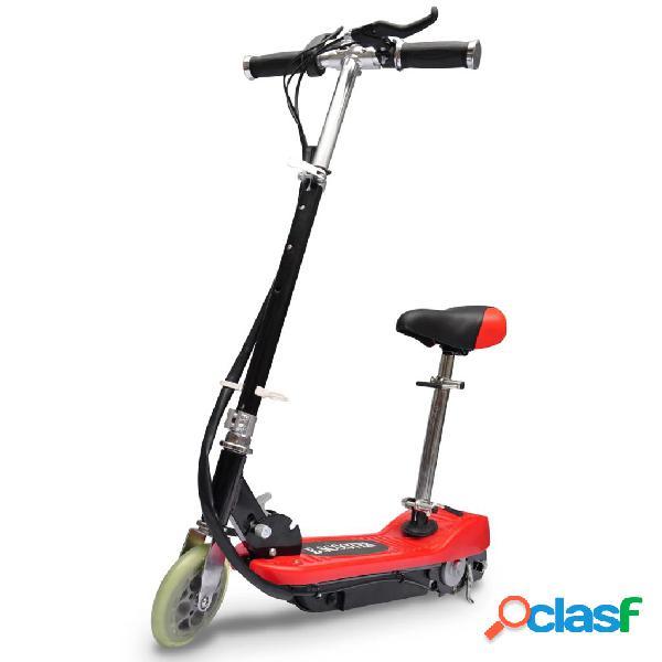 Vidaxl trotinete/scooter elétrica com assento 120 w vermelho
