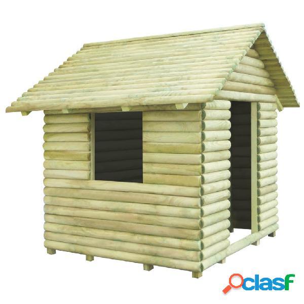 Vidaxl casa de brincar 167x150x151 cm madeira de pinho impregnada fsc