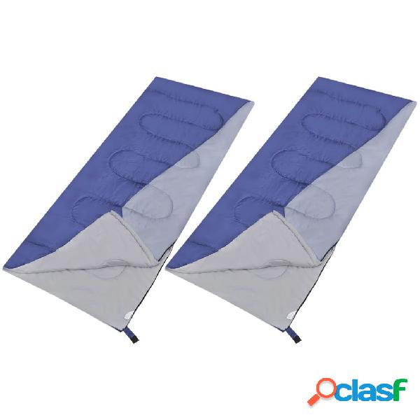 Vidaxl conjunto 2 sacos-cama leves e retangulares