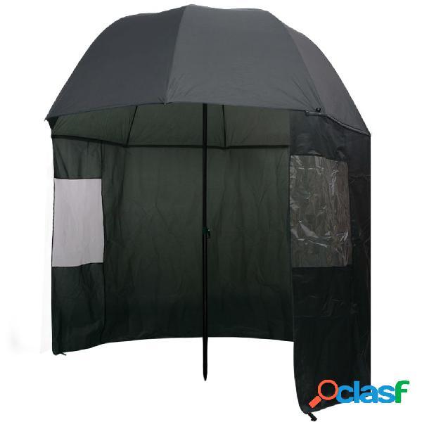 vidaXL Guarda-chuva pesca, verde, 300x240 cm