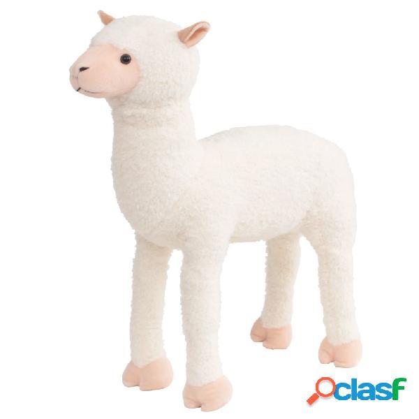 Vidaxl brinquedo de montar alpaca peluche branco xxl