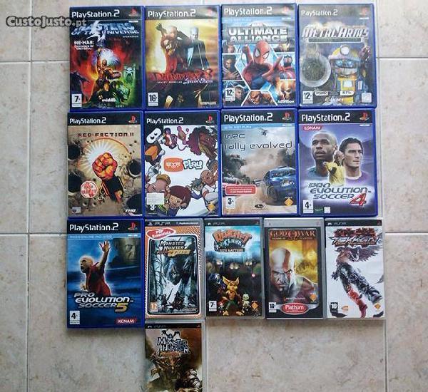 Pack jogos ps2,ps3 e psp