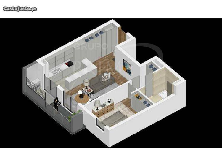 Apartamento t1 novo em vila do conde