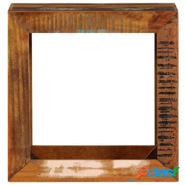 Vidaxl banco 40x30x40 cm madeira recuperada maciça