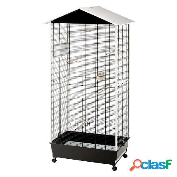 Ferplast gaiola e aviário com telhado nota plástico 56115423