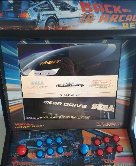 Arcade back to the future consola de jogos