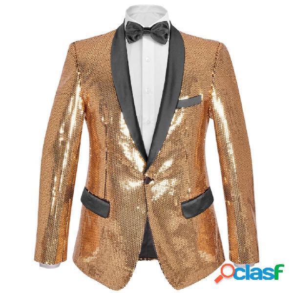 Vidaxl blazer lantejoulas p/ homem tamanho 46 dourado