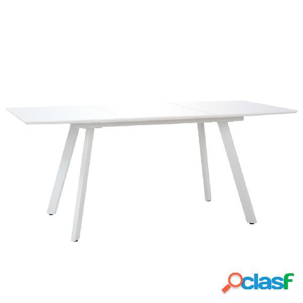 Vidaxl mesa de jantar 180x90x76 cm mdf branco brilhante