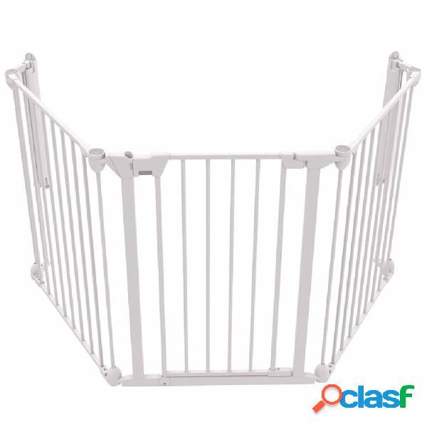 Noma portão de segurança com 3 painéis modular metal branco 94054