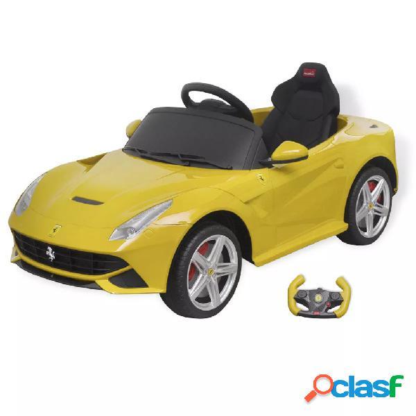 Vidaxl carro de passeio ferrari f12 amarelo 6 v com controlo remoto