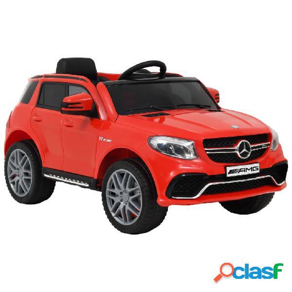 Vidaxl carro para crianças mercedes benz gle63s plástico vermelho