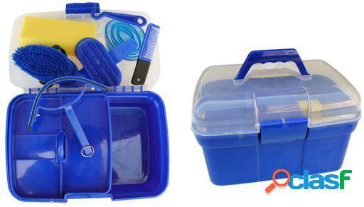 Gómez caixa de limpeza útil com grandes acessórios vermelhos
