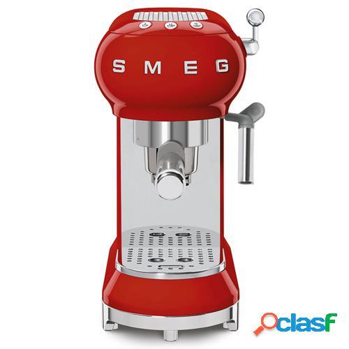Smeg máquina café ecf01rdeu vermelho