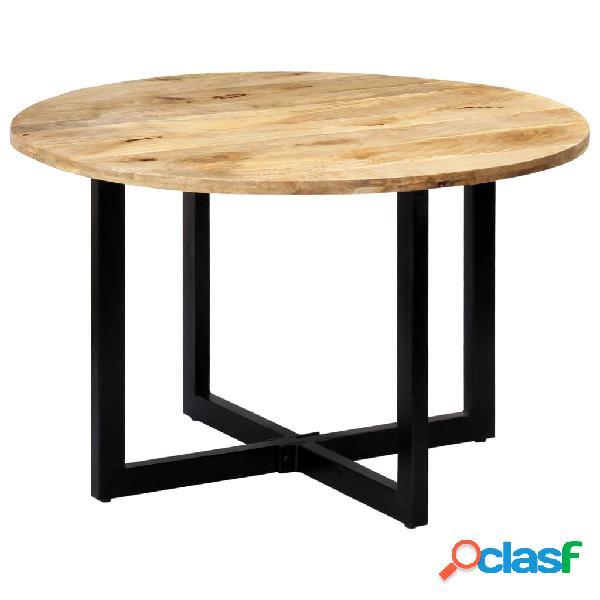 Vidaxl mesa de jantar 120x73 cm madeira de mangueira maciça