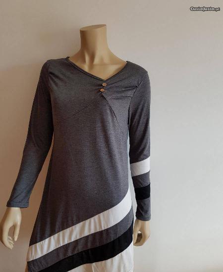 Camisola / túnica com botões