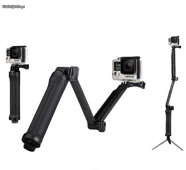 Stick/Tripé 3 way para Action Cam - Gopro - SJCAM