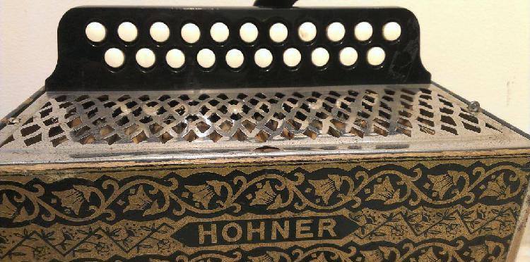 Concertina hohner - acordeão diatónico fá e dó