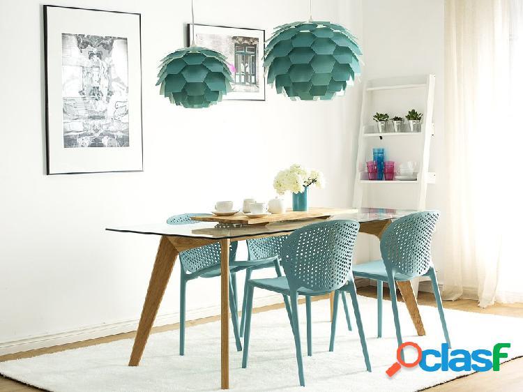 Cadeira de jardim azul - sala de jantar - sala - plástico - holmdel