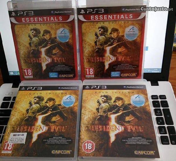 3 unidades resident evil edição gold - ps3