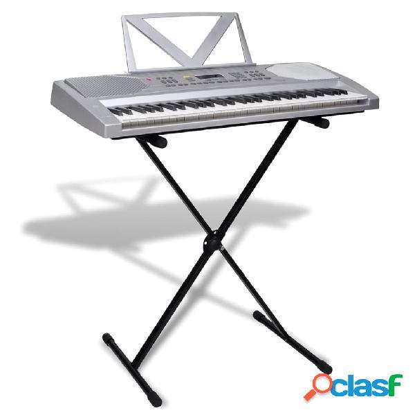 Vidaxl teclado electrónico com 61 teclas + suporte ajustável e mesa