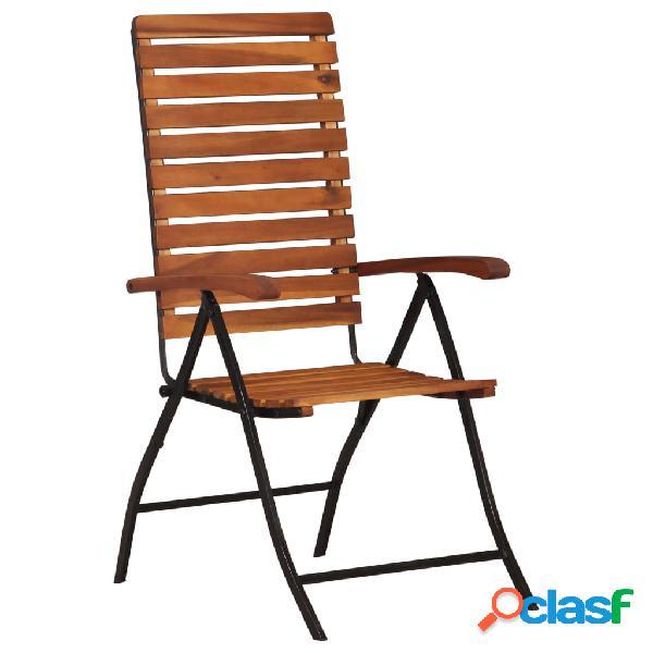 Vidaxl cadeiras de jardim reclináveis 2 pcs madeira de acácia maciça