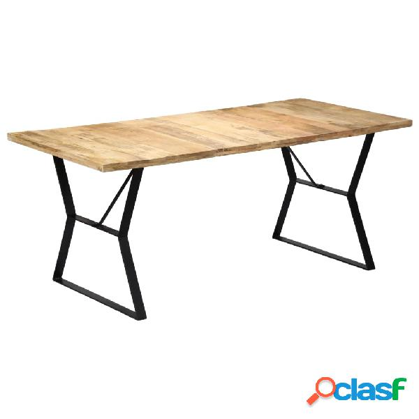 Vidaxl mesa de jantar 180x90x76 cm madeira de mangueira maciça