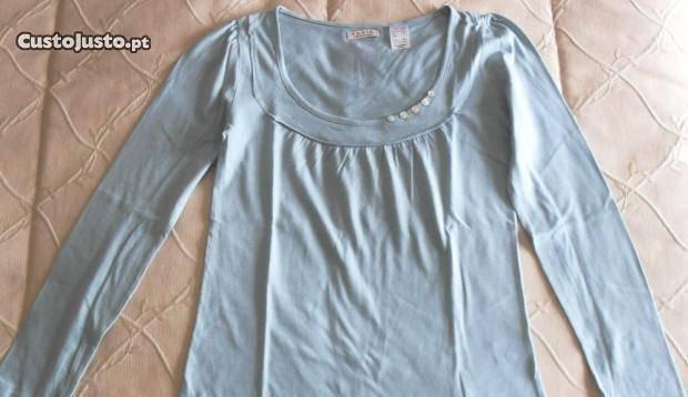Blusa nova azul clara fininha tam 36/38