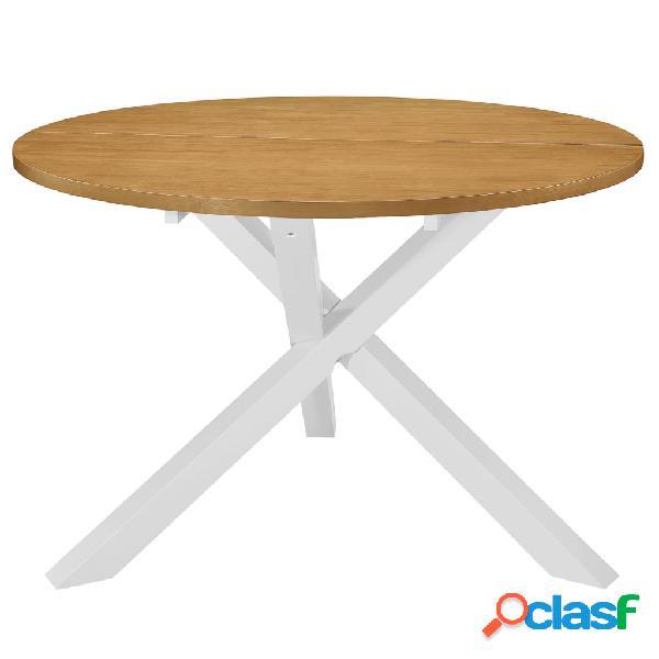 Vidaxl mesa de jantar 120x75 cm mdf branco