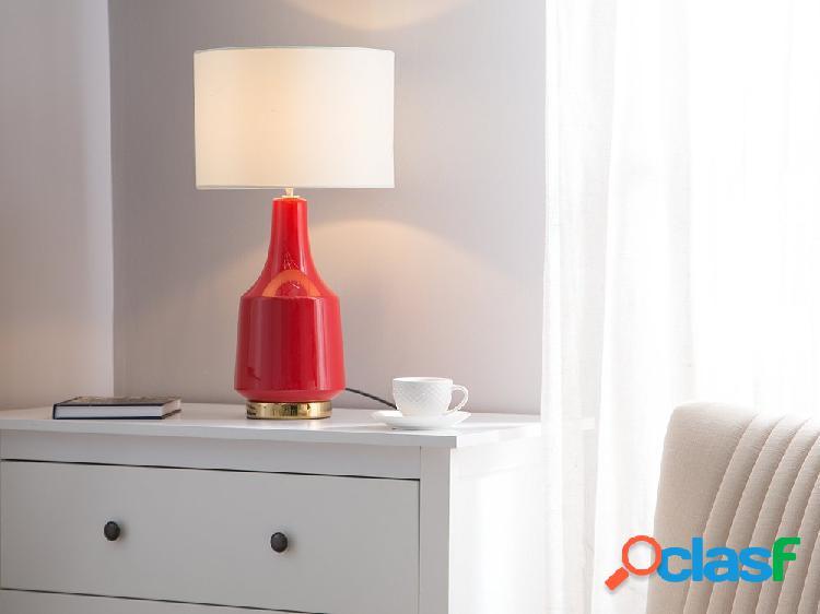 Candeeiro de mesa - vermelho - triversa