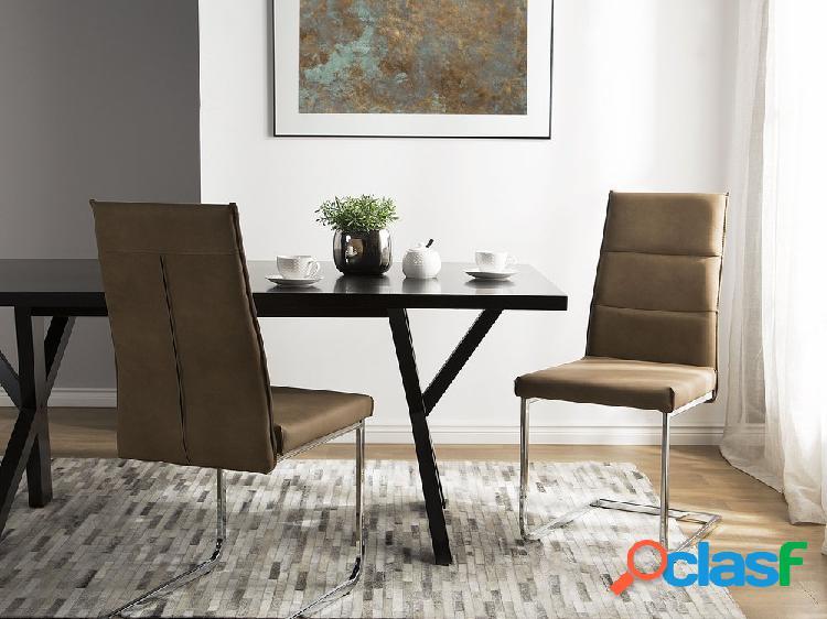 Cojunto de duas cadeiras de jantar em bege areia - ROCKFORD