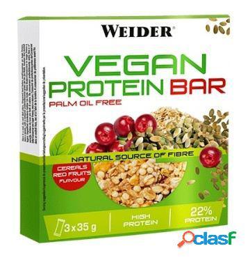 Weider vegan protein bar 35 gr frutos vermelhos
