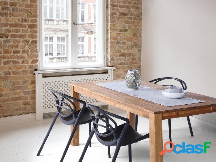 Mesa de jantar marrom claro - 180/270 x 85 cm - madeira de carvalho - extensível - maxima