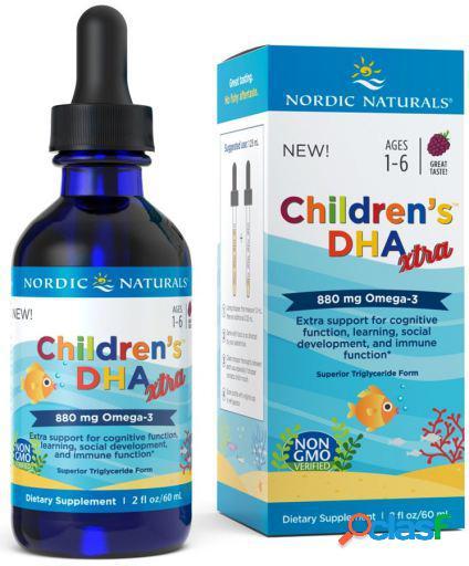 Nordic naturals dha xtra 880 para crianças 60 ml