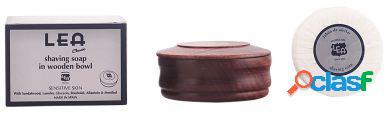 Lea sabonete de barbear clássico em tigela de madeira 100 ml 100 ml