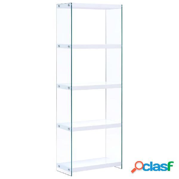 Vidaxl estante com 5 prateleiras 60x29x167 cm mdf branco
