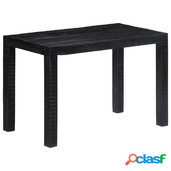 Vidaxl mesa de jantar 118x60x76 cm madeira de mangueira maciça preto