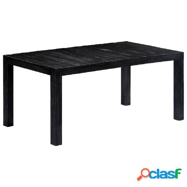 Vidaxl mesa de jantar 180x90x76 cm madeira de mangueira maciça preto