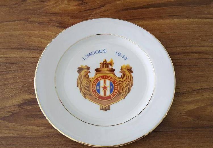 Porcelana LIMOGES 1933 Colecção Pratos franceses