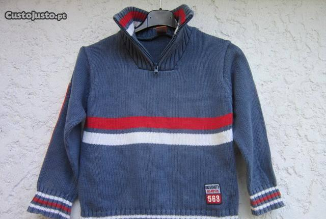 Camisola pullover polo menino 6 a 7 anos mayoral
