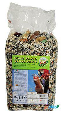 Nayeco papagaios e periquitos boa comida grama 1,5 kg. 1.5 kg