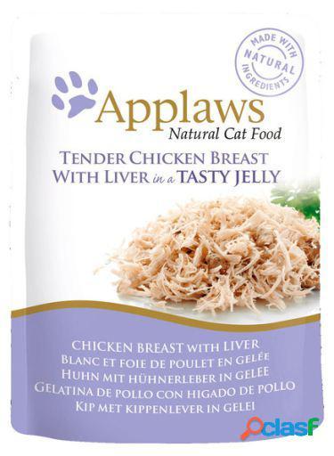 Applaws gelatina de frango com fígado de galinha para gatos 70 gr