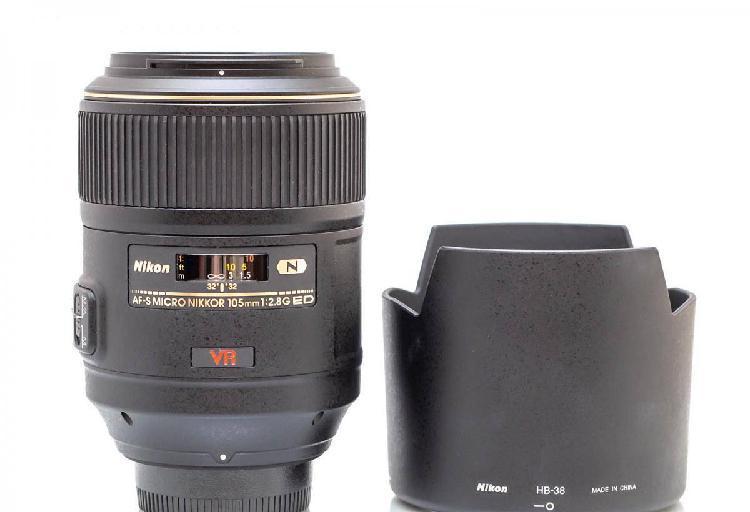 Nikon nikkor af-s 105mm f/2.8 vr micro como nova