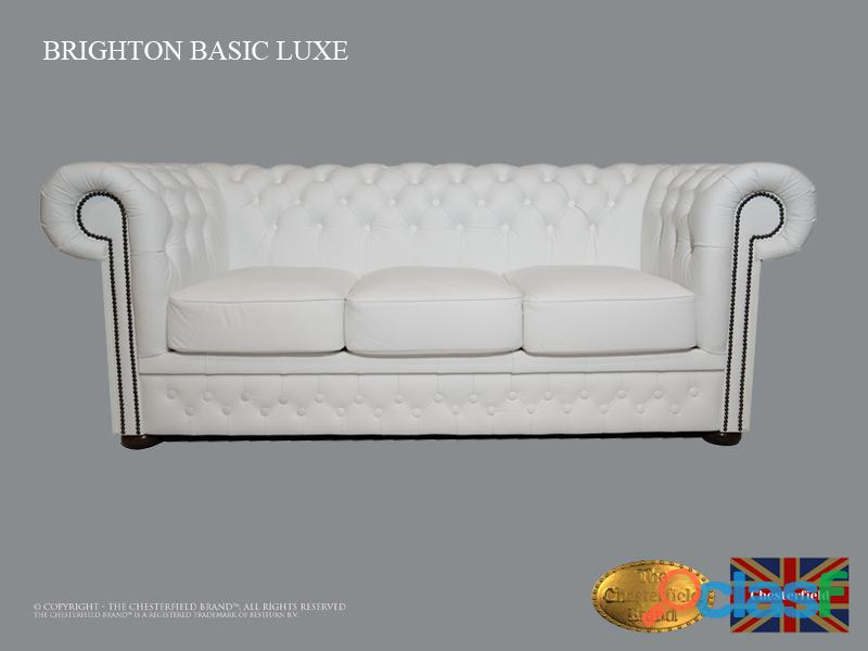 SOFÁ CHESTERFIELD BASSIC LUX , BRANCO ,3 LUGARES