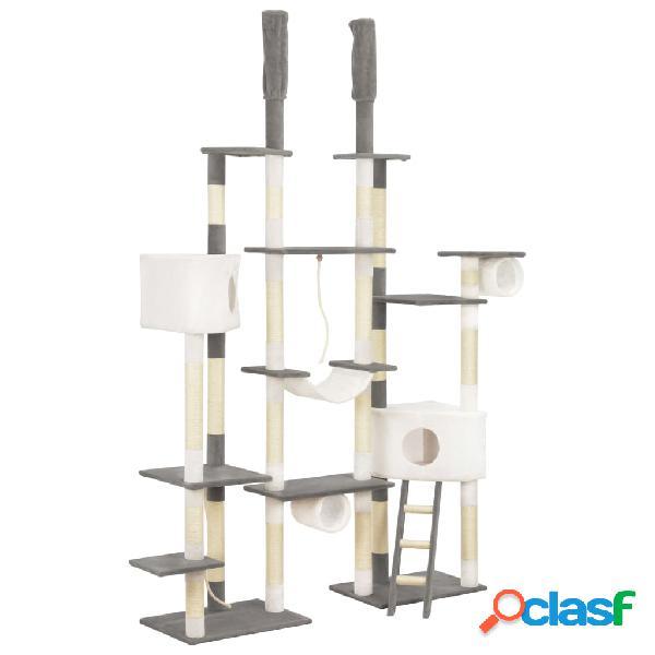 Vidaxl árvore para gatos c/ postes arranhadores sisal 234 cm cinzento