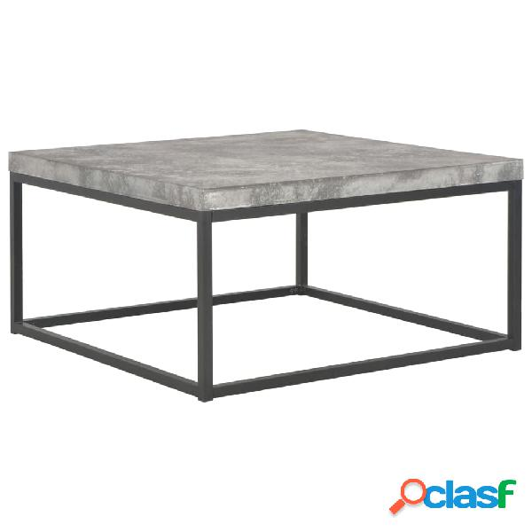 Vidaxl mesa de centro 75x75x38 cm aspeto cimento